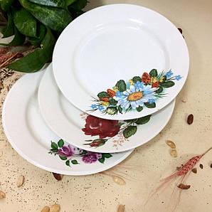 Тарелка цветы Диаметр 18 см