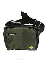 Мужская спортивная сумка на пояс текстиль арт. 00912
