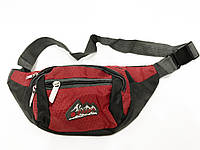 Мужская спортивная сумка на пояс плащевка арт. 00716