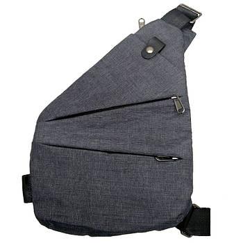 Сумка рюкзак через плечо мессенджер Cross Body Bags 6016 - СЕРАЯ D100