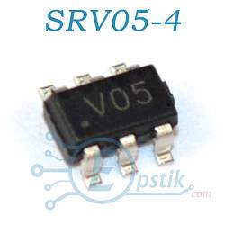 SRV05-4, (V05), супрессорная сборка, SOT23-6