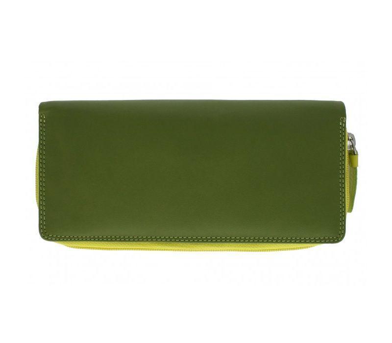 Женский кошелек кожаный Visconti RB-55 Lime Multi