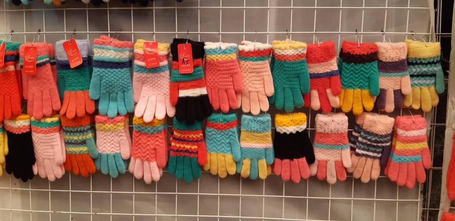 Детские перчатки осень девочка от 5 до 7 лет, фото 2