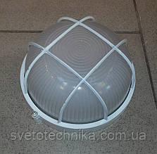 Светильник уличный с защитной решёткой  ECOSTRUM 60W (белый, черный цвет) Круг