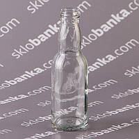 Бутылка стеклянная 0,04 л. 48 шт с крышкой в комплекте