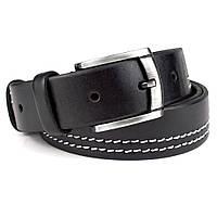 Ремень мужской кожаный KB-35-01 black (3,5 см)