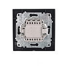 Выключатель двойной проходной (безупречный графит) EH-2187-PG, фото 2