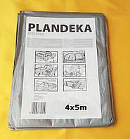 """Тент """"Plandeka"""" 100g\m2, 4х5м. Полипропиленовый, тарпаулиновый ламинированный с кольцами.Полог."""