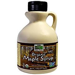 Органический кленовый сироп, класс A, темный цвет (473 мл) Now Foods