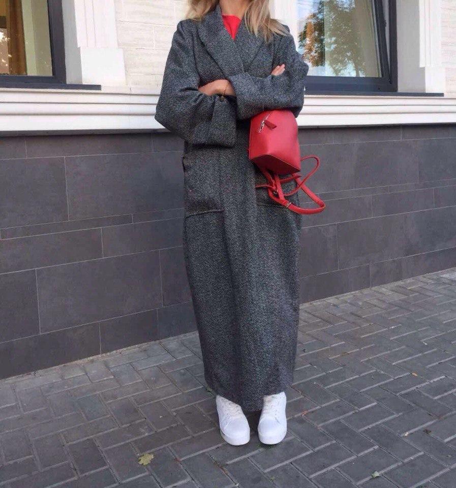 d251676c104 Женское кашемировое пальто в пол оверсайз с карманами под пояс ...