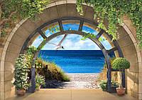 Фотообои готовые 416x254 см Широкая арка и море (11551) Флизелин