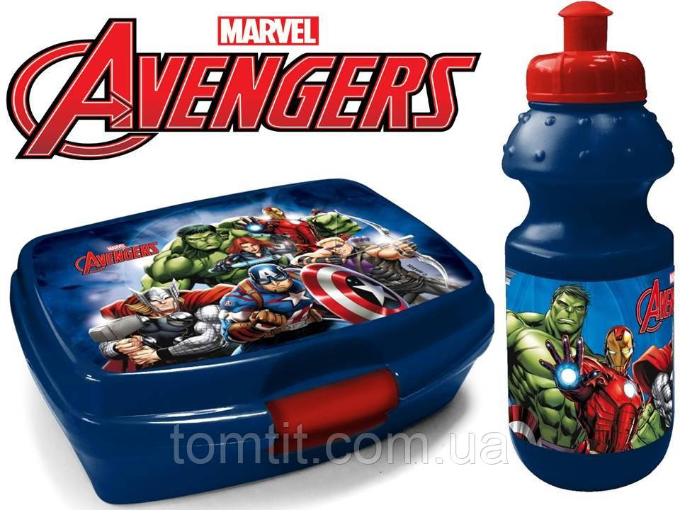 """Набор """"Avengers - Мстители"""". Бутылка и Ланч бокс (ланчбокс)"""