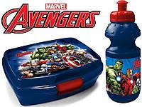 """Набор """"Avengers - Мстители"""". Ланч бокс (ланчбокс) + бутылка"""