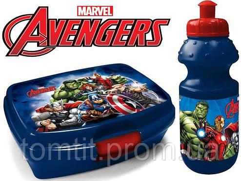 """Набор """"Avengers - Мстители"""". Бутылка и Ланч бокс (ланчбокс), фото 2"""