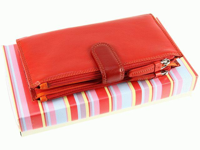 Женский кошелек Visconti RB-100 Red Multi кожаный красный