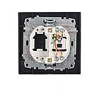 Розетка телефонная (безупречный графит) EH-2112-PG, фото 2