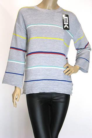 кофта з широкими рукавами в кольорову полоску, фото 2