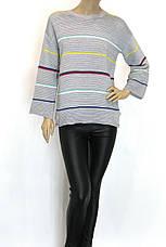 кофта з широкими рукавами в кольорову полоску, фото 3