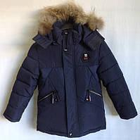"""Куртка зимняя """"11 Type"""" #7-108 для мальчиков. 2-3-4-5-6 лет (92-116 см). Темно-синяя. Китай. Оптом."""