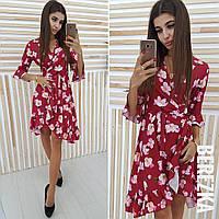 Элегантное платье с цветочным принтом
