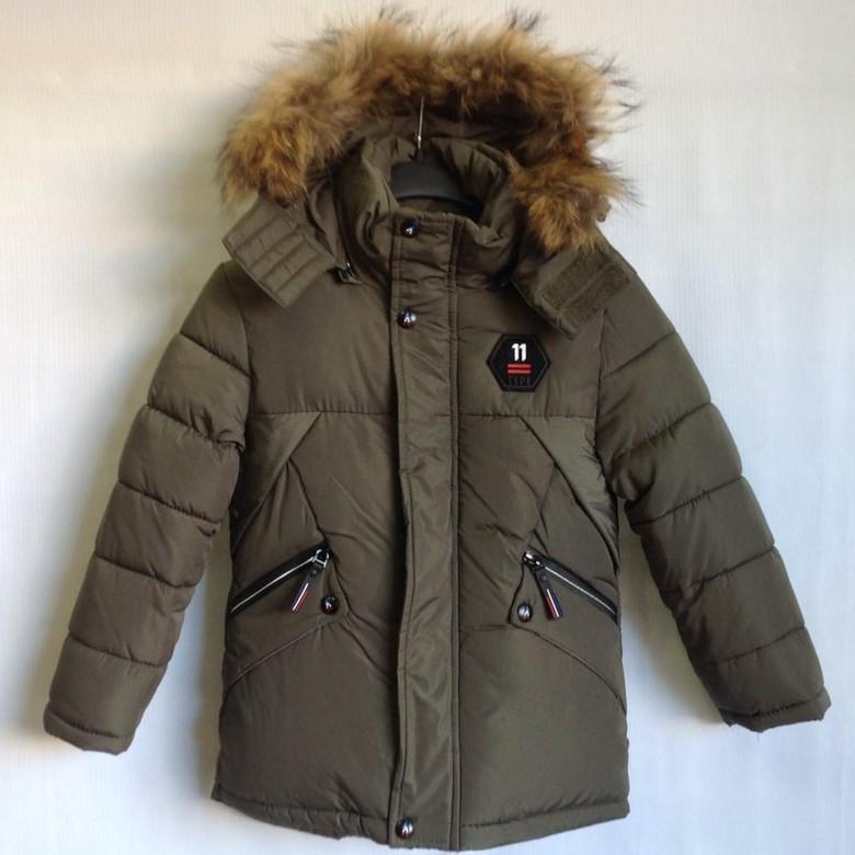 """Куртка зимняя """"11 Type"""" #7-108 для мальчиков. 2-3-4-5-6 лет (92-116 см). Хаки. Китай. Оптом."""