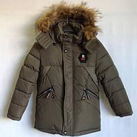 """Куртка зимняя """"11 Type"""" #7-108 для мальчиков. 2-3-4-5-6 лет (92-116 см). Хаки. Китай. Оптом., фото 1"""
