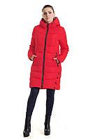 fac7c610d40e Красный женский пуховик на зиму   Оригинальная женская куртка с капюшоном  зимняя