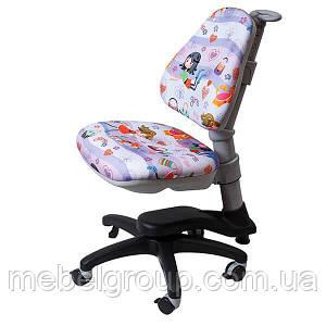Детское ортопедическое кресло Comf-Pro ROYCE KY-318 фиолетовое с девочкой