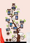 Интерьерная наклейка  на стену Дерево с рамками для фото  (отличное качество), фото 4