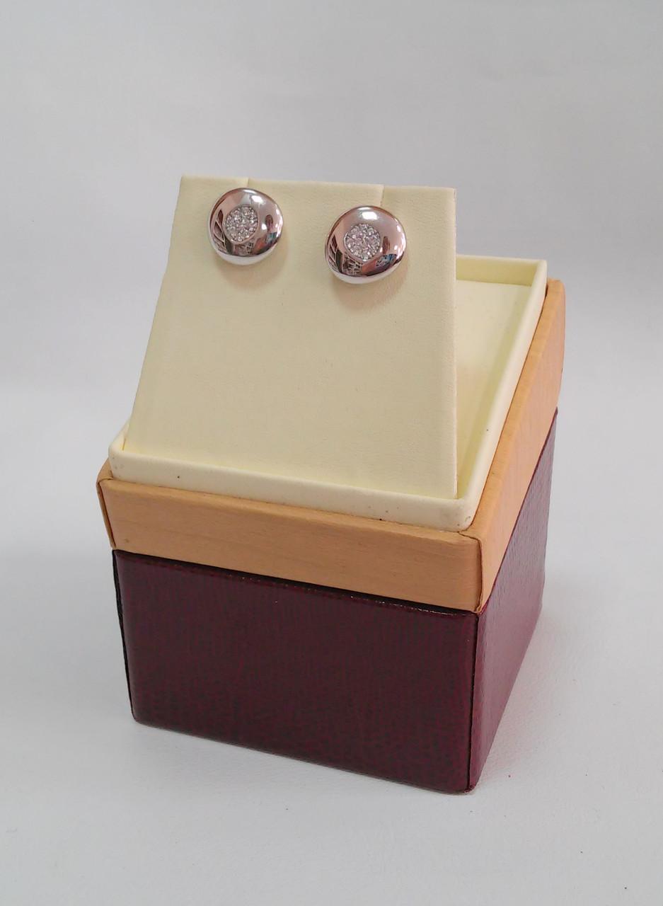 Футляp элитный для серег, подвески кожзам бежево-бордовыйDS01-E