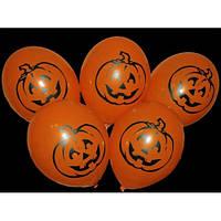 "Шары Хэллоуин Halloween Тыква 12""(30см) оранжевые 2 штампа"