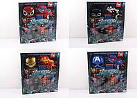 Набор супергероя Avengers 564-811 (паук/бетмен/капитан америка/железный человек): маска + бластер + фигурки