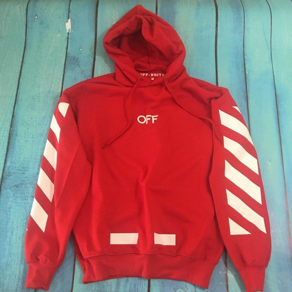 e07bf7c877b Худи с капюшоном красная мужская женская осенняя зимняя брендовая от Off- White Офф-Вайт