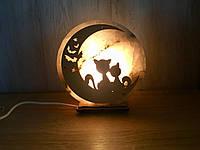 """Соляной светильник """"Котики на луне"""", фото 1"""