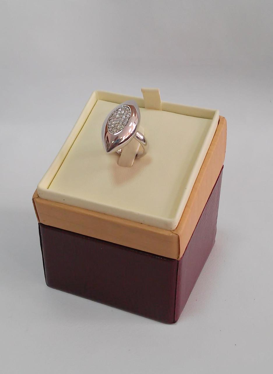 Футляp элитный для кольца кожзам бежево-бордовый DS01-R