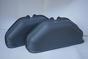 Пластиковые накладки на колесные арки в Ford Transit (Форд Транзит) цвет серый
