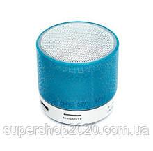Mini speaker MP3 колонка Bluetooth з підсвічуванням Синій