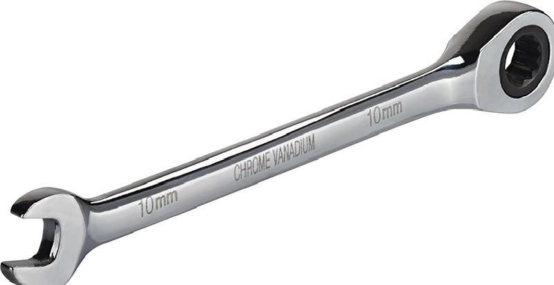 Ключ комбинированный с трещоткой, CRV 10мм Miol 51-610