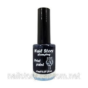 Лак для стемпинга  Nail story черный