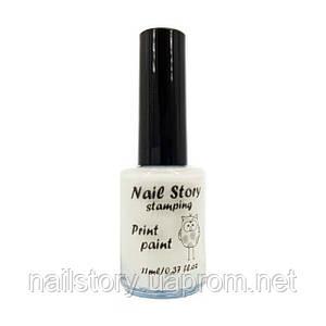 Лак для стемпинга  Nail story белый