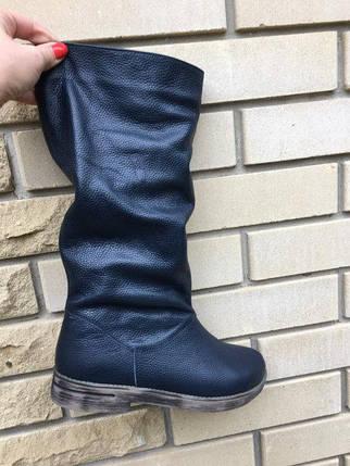 Жіночі шкіряні чоботи на хутрі 36-40 р, фото 2
