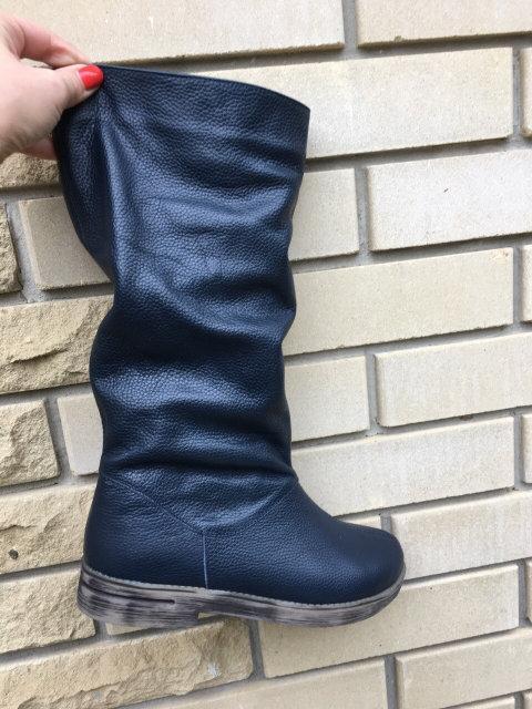 Жіночі шкіряні чоботи на хутрі 36-40 р