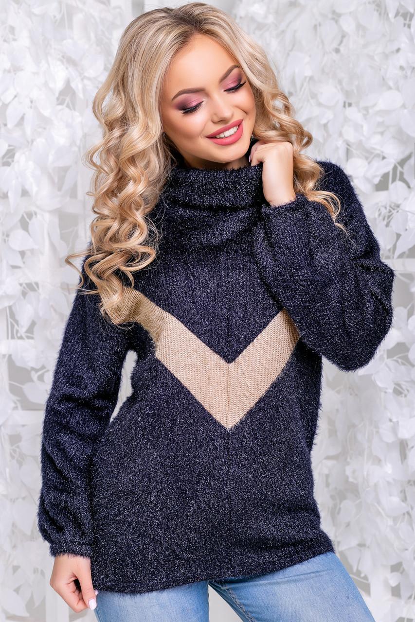 f68d3c2b7f62 Женский свитер, ангора-травка, цвет синий, размеры от 44 до 50 купить в  Запорожье: ...