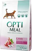 Сухой корм OPTIMEAL LAMB (Оптимил) для кошек c чувствительным пищеварением с ягненком 10КГ
