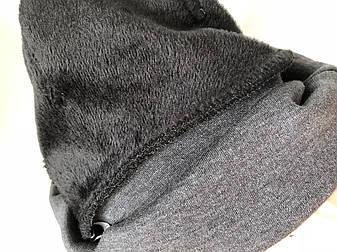 Классические женские лосины НА МЕХУ (норма) №10/2 (Темно серый меланж), фото 2