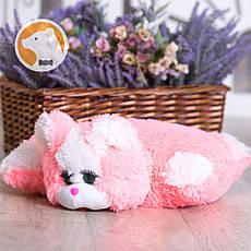 Подушка-игрушка Кошка, розовая