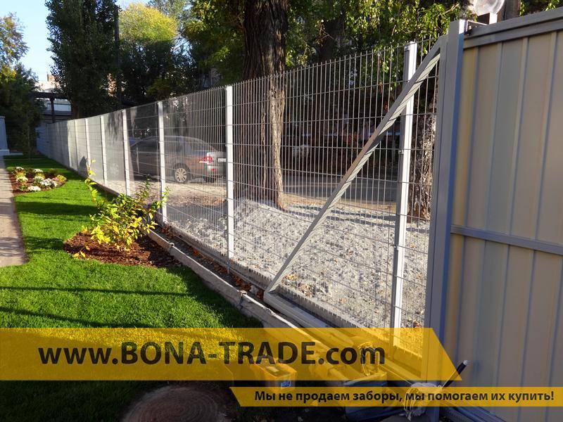 """Панельний паркан для огородження будинків """"Кольчуга"""""""