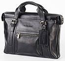 Портфель кожаный мужской чёрный FC-0111-L1 бренда FRANCO CESARE, фото 2
