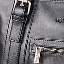 Портфель кожаный мужской чёрный FC-0111-L1 бренда FRANCO CESARE, фото 3