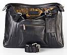 Портфель кожаный мужской чёрный FC-0111-L1 бренда FRANCO CESARE, фото 5